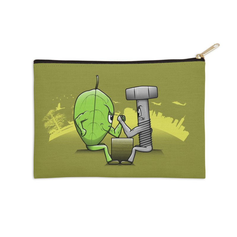 Nature vs Technique Accessories Zip Pouch by Tomas Teslik's Artist Shop