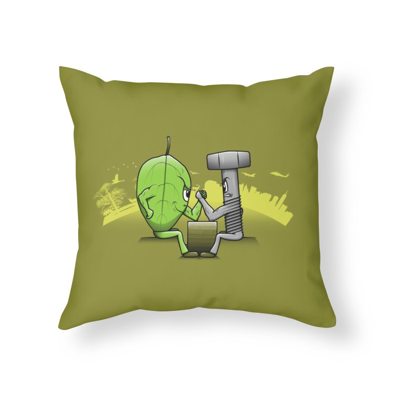 Nature vs Technique Home Throw Pillow by Tomas Teslik's Artist Shop