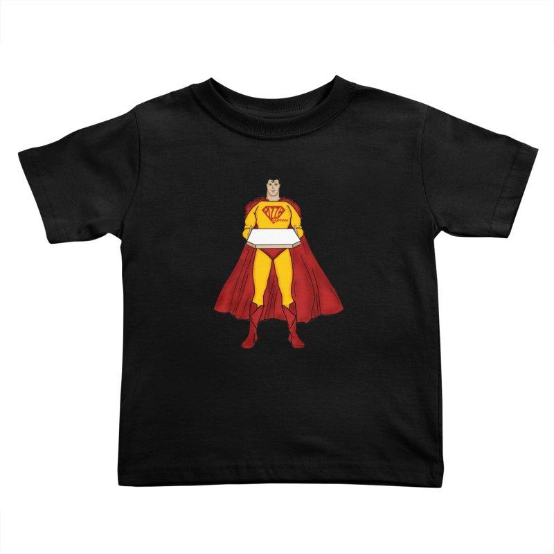 Pizza Express Kids Toddler T-Shirt by Tomas Teslik's Artist Shop