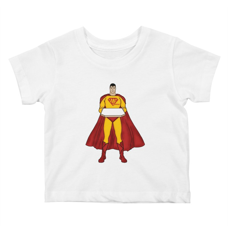 Pizza Express Kids Baby T-Shirt by Tomas Teslik's Artist Shop