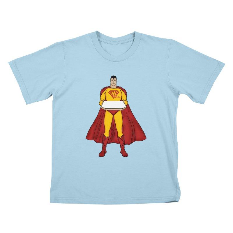 Pizza Express Kids T-Shirt by Tomas Teslik's Artist Shop