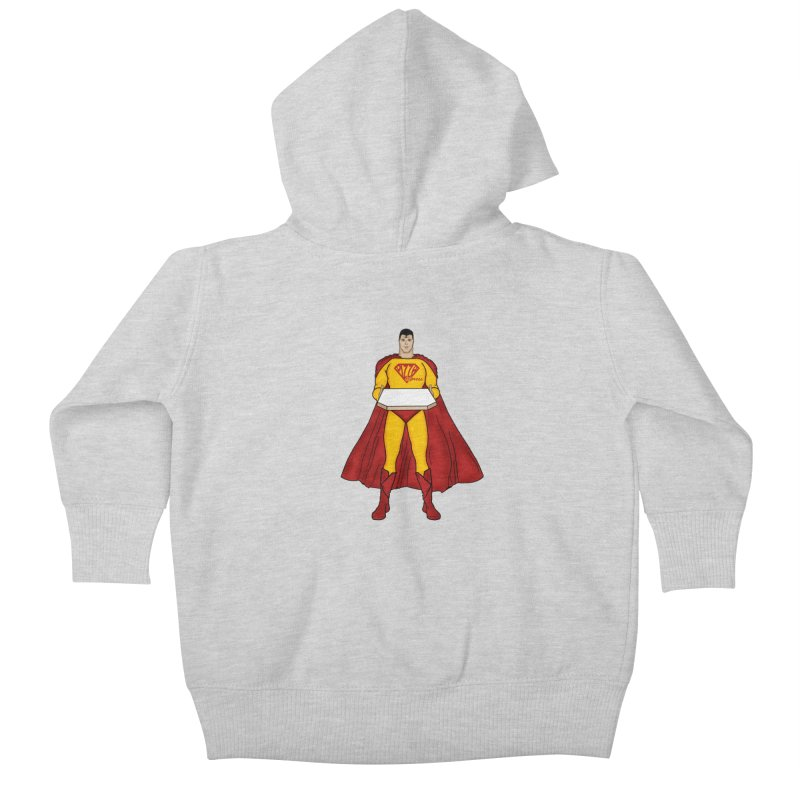 Pizza Express Kids Baby Zip-Up Hoody by Tomas Teslik's Artist Shop