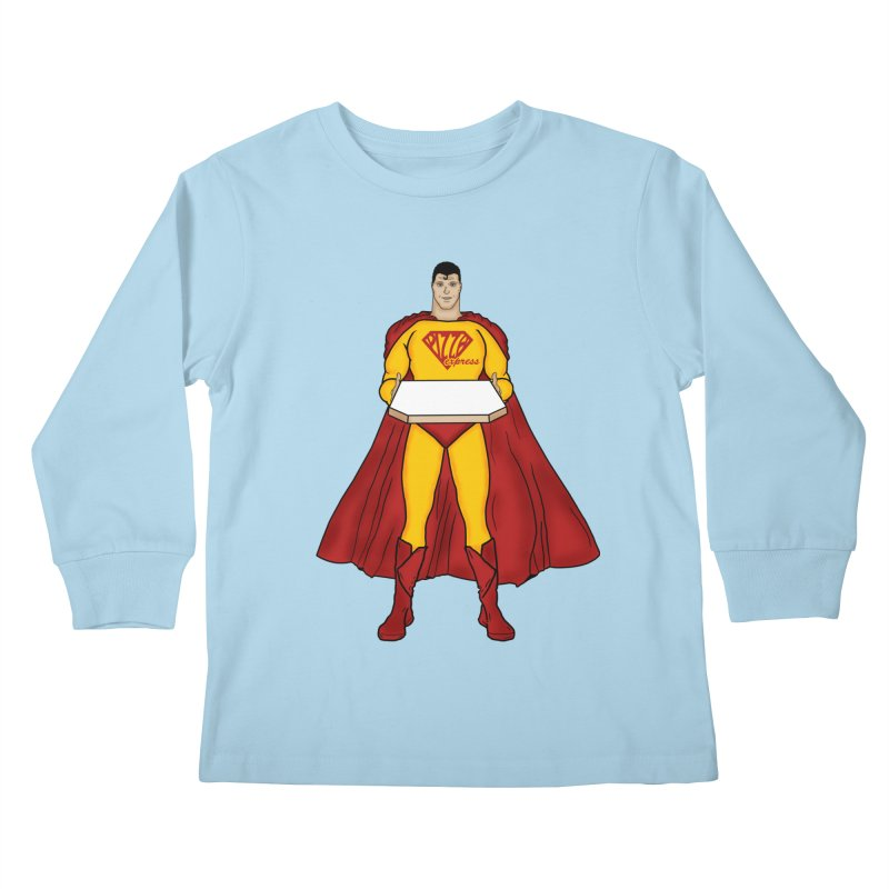 Pizza Express Kids Longsleeve T-Shirt by Tomas Teslik's Artist Shop