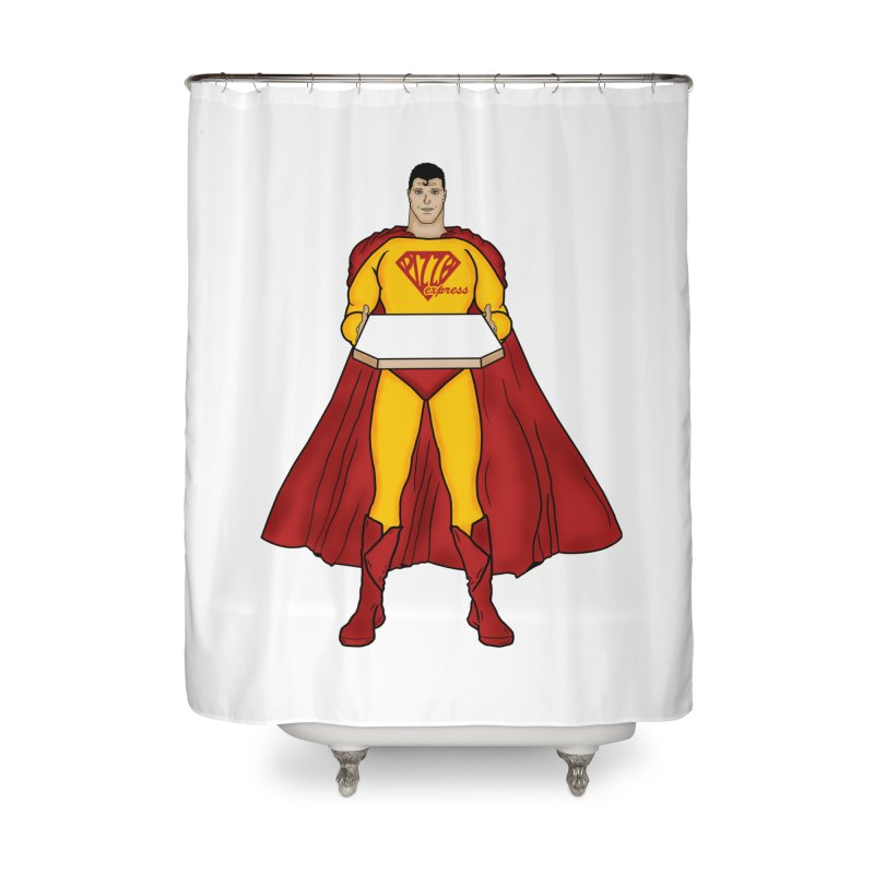 Pizza Express Home Shower Curtain by Tomas Teslik's Artist Shop