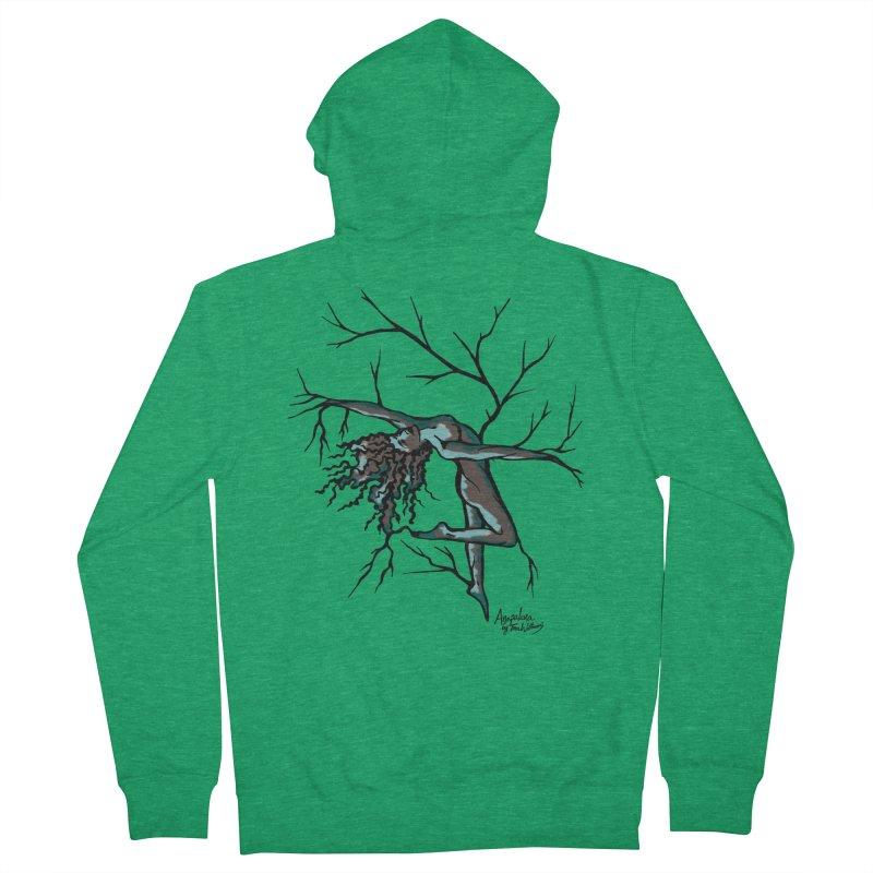 Tree Dancer 2 - Moss Tones Men's Zip-Up Hoody by Anapalana by Tona Williams Artist Shop