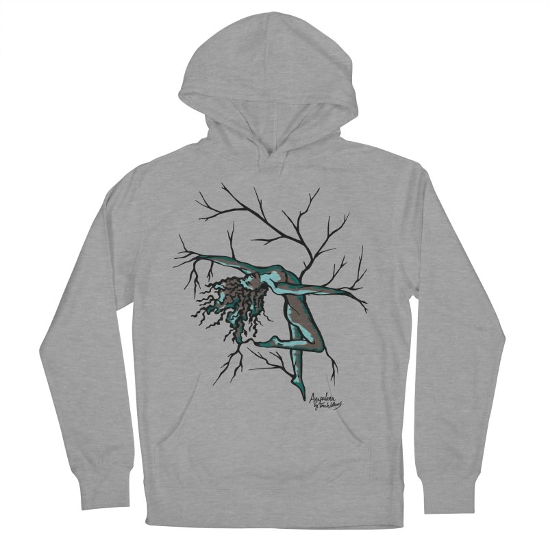 Tree Dancer 2 - Moss Tones Women's French Terry Pullover Hoody by Anapalana by Tona Williams Artist Shop