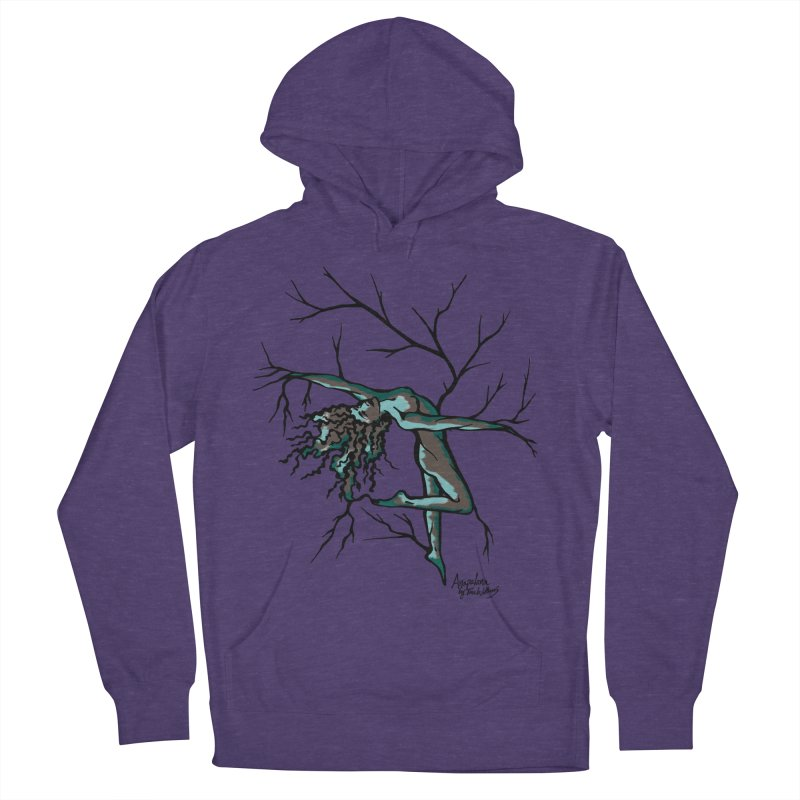 Tree Dancer 2 - Moss Tones Men's French Terry Pullover Hoody by Anapalana by Tona Williams Artist Shop