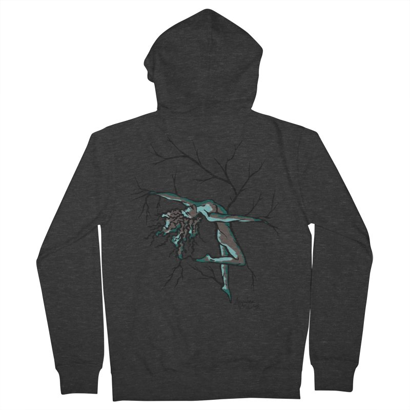Tree Dancer 2 - Moss Tones Women's French Terry Zip-Up Hoody by Anapalana by Tona Williams Artist Shop