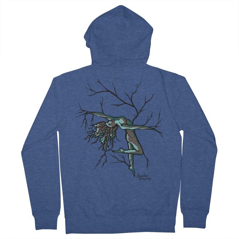 Tree Dancer 2 - Moss Tones Women's Zip-Up Hoody by Anapalana by Tona Williams Artist Shop