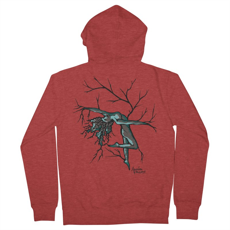 Tree Dancer 2 - Moss Tones Women's Zip-Up Hoody by Anapalana by Tona Williams Artist Shop