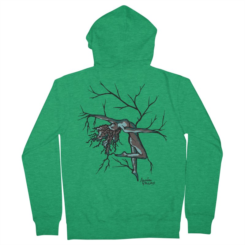 Tree Dancer 2 - Moss Tones Men's French Terry Zip-Up Hoody by Anapalana by Tona Williams Artist Shop