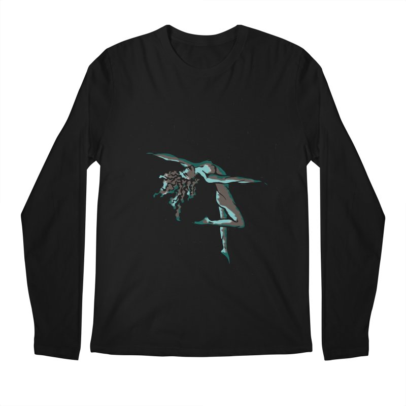 Tree Dancer 2 - Moss Tones Men's Regular Longsleeve T-Shirt by Anapalana by Tona Williams Artist Shop