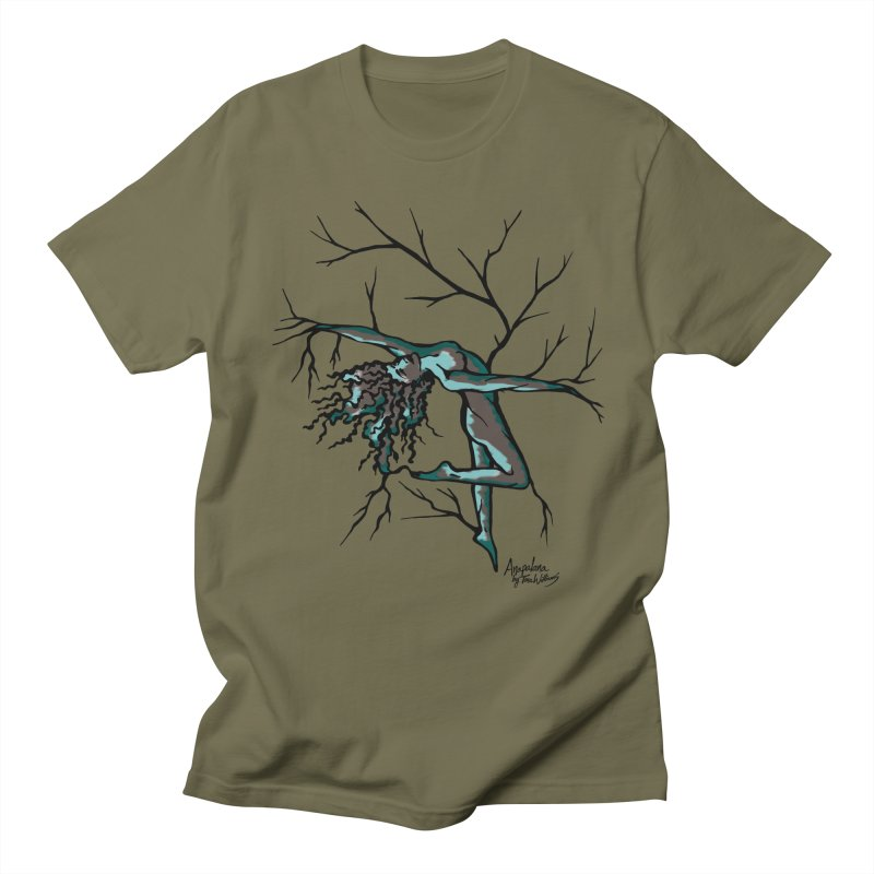 Tree Dancer 2 - Moss Tones Men's Regular T-Shirt by Anapalana by Tona Williams Artist Shop