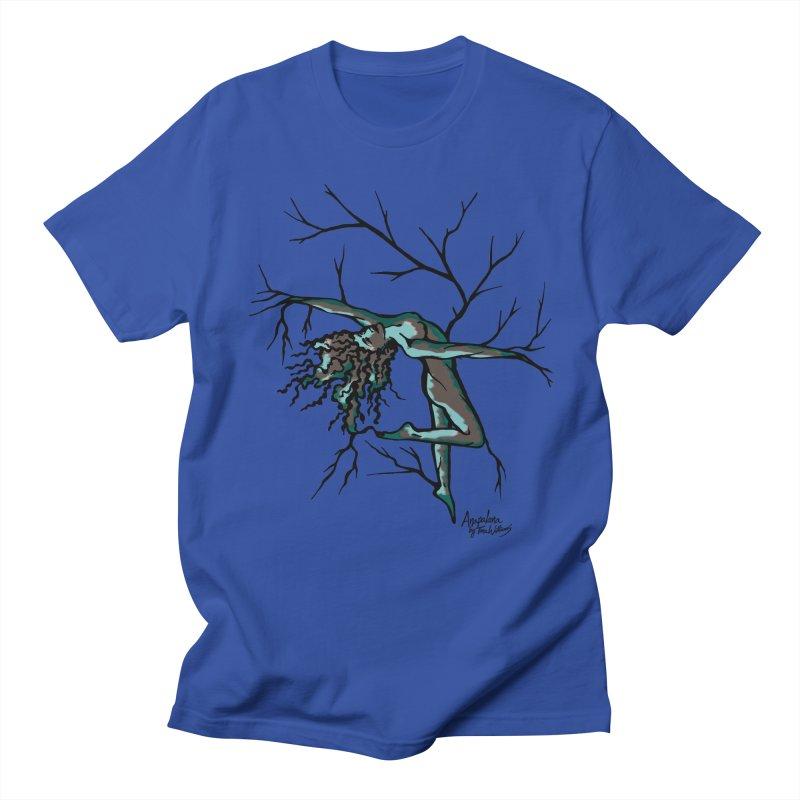 Tree Dancer 2 - Moss Tones Men's Regular T-Shirt by Anapalana by Tona Williams Artist Shop