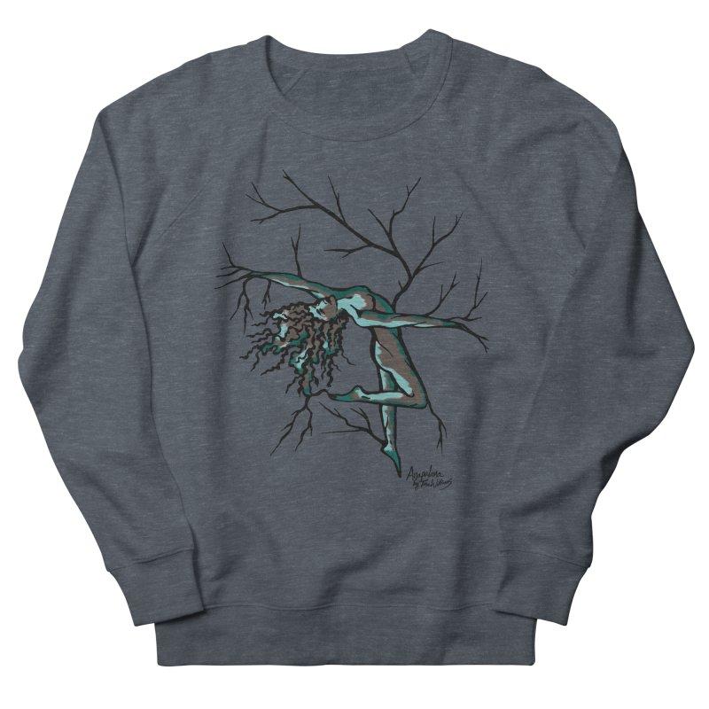 Tree Dancer 2 - Moss Tones Women's French Terry Sweatshirt by Anapalana by Tona Williams Artist Shop