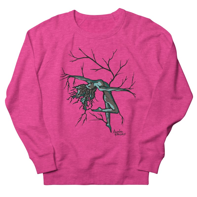 Tree Dancer 2 - Moss Tones Women's French Terry Sweatshirt by Anapalana by Tona Williams Artist Shop