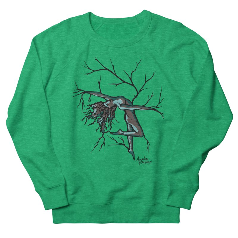 Tree Dancer 2 - Moss Tones Men's French Terry Sweatshirt by Anapalana by Tona Williams Artist Shop