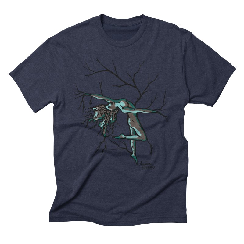 Tree Dancer 2 - Moss Tones Men's Triblend T-Shirt by Anapalana by Tona Williams Artist Shop