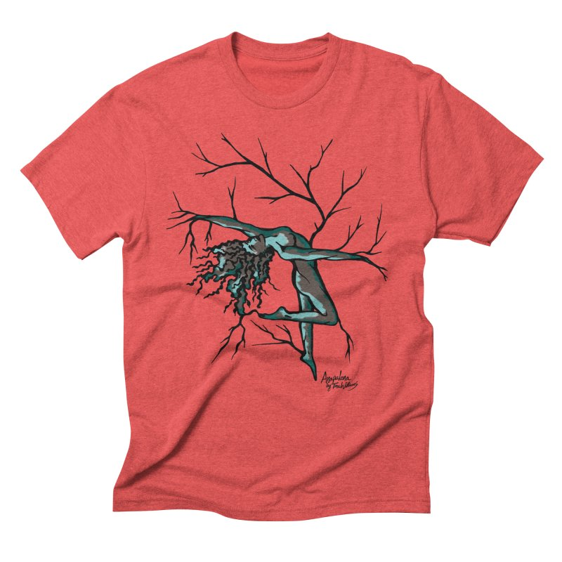 Tree Dancer 2 - Moss Tones Men's Triblend T-Shirt by Anapalana by Tona Williams Artist Shop
