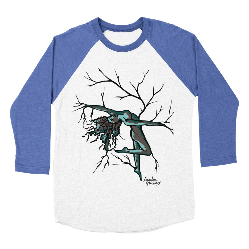Tree Dancer 2 - Moss Tones Women's Baseball Triblend T-Shirt by Anapalana by Tona Williams Artist Shop