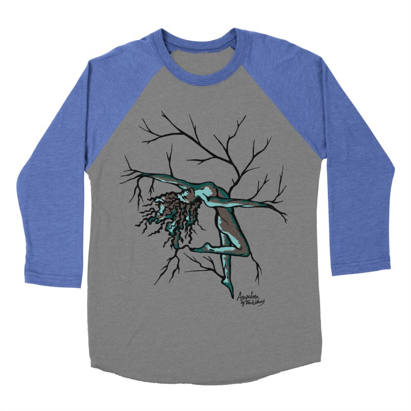 Tree Dancer 2 - Moss Tones Women's Baseball Triblend Longsleeve T-Shirt by Anapalana by Tona Williams Artist Shop