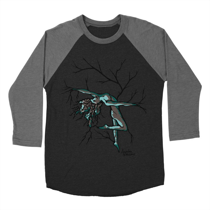 Tree Dancer 2 - Moss Tones Women's Baseball Triblend Longsleeve T-Shirt by Anapalana by Tona Williams Artist Shop