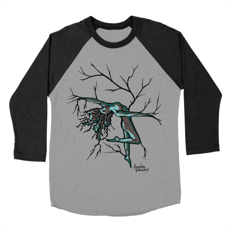 Tree Dancer 2 - Moss Tones Men's Baseball Triblend T-Shirt by Anapalana by Tona Williams Artist Shop