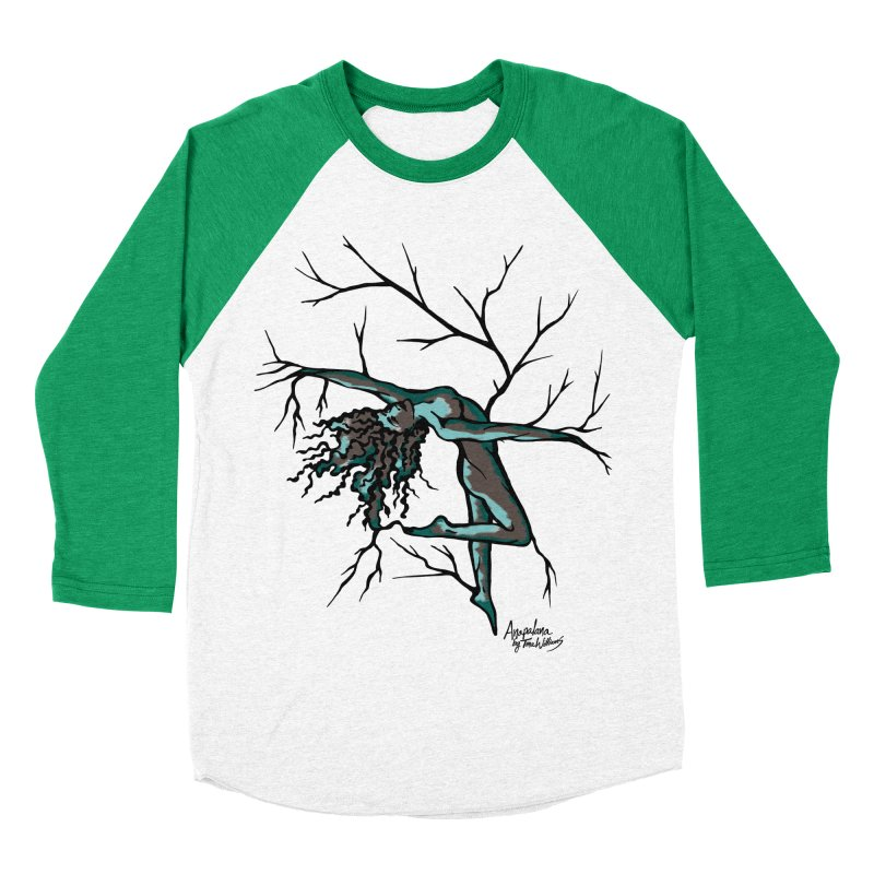 Tree Dancer 2 - Moss Tones Men's Baseball Triblend Longsleeve T-Shirt by Anapalana by Tona Williams Artist Shop