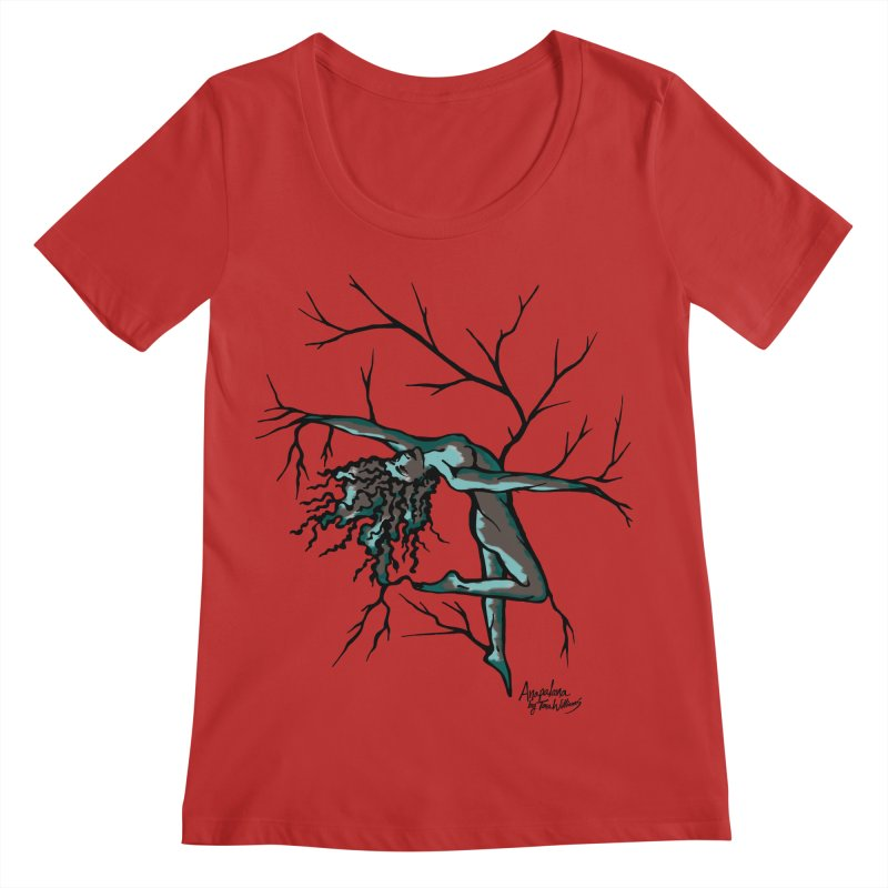 Tree Dancer 2 - Moss Tones Women's Regular Scoop Neck by Anapalana by Tona Williams Artist Shop