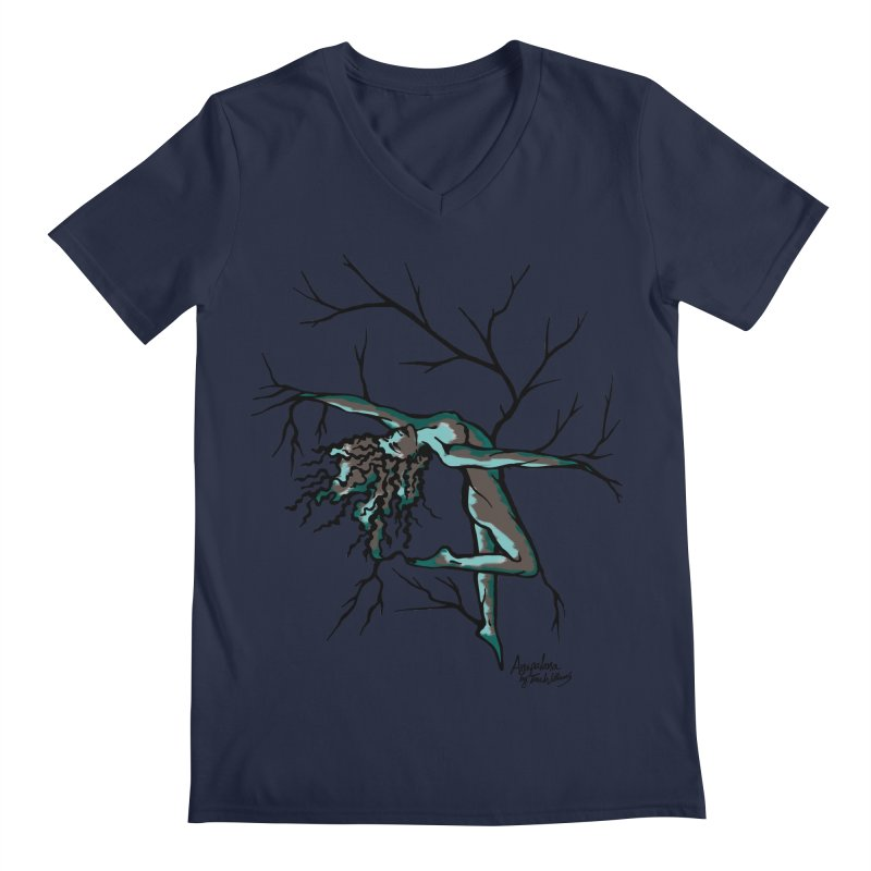 Tree Dancer 2 - Moss Tones Men's Regular V-Neck by Anapalana by Tona Williams Artist Shop