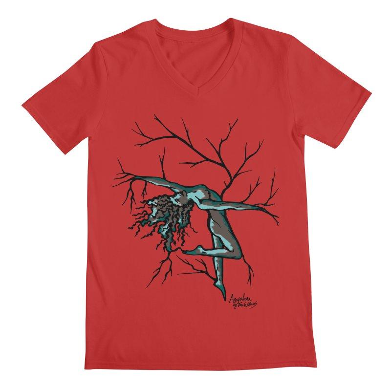 Tree Dancer 2 - Moss Tones Men's Regular V-Neck by Anapalana by Tona Williams Artist Shop