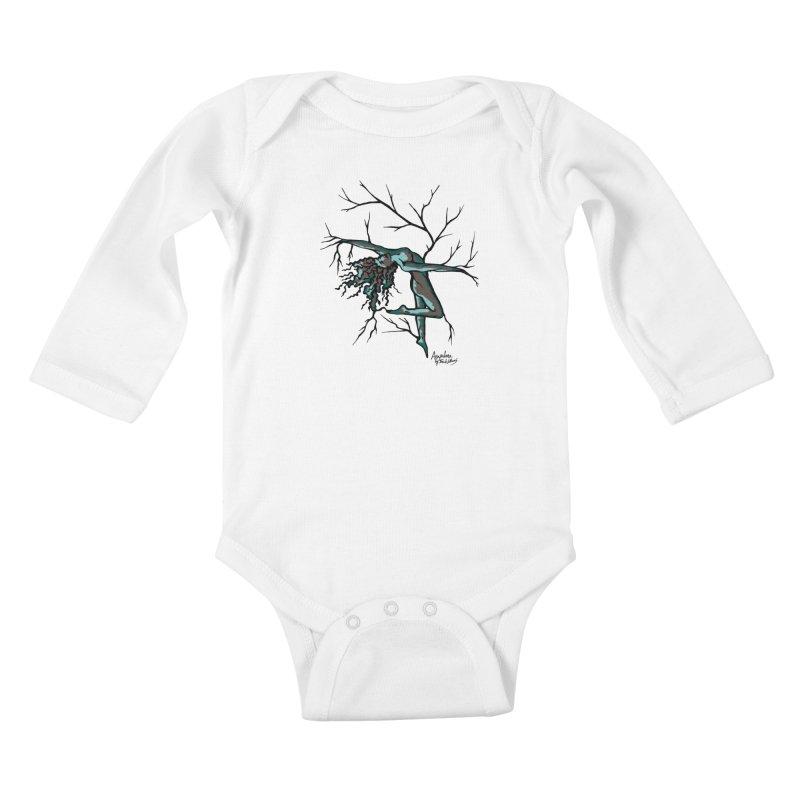 Tree Dancer 2 - Moss Tones Kids Baby Longsleeve Bodysuit by Anapalana by Tona Williams Artist Shop