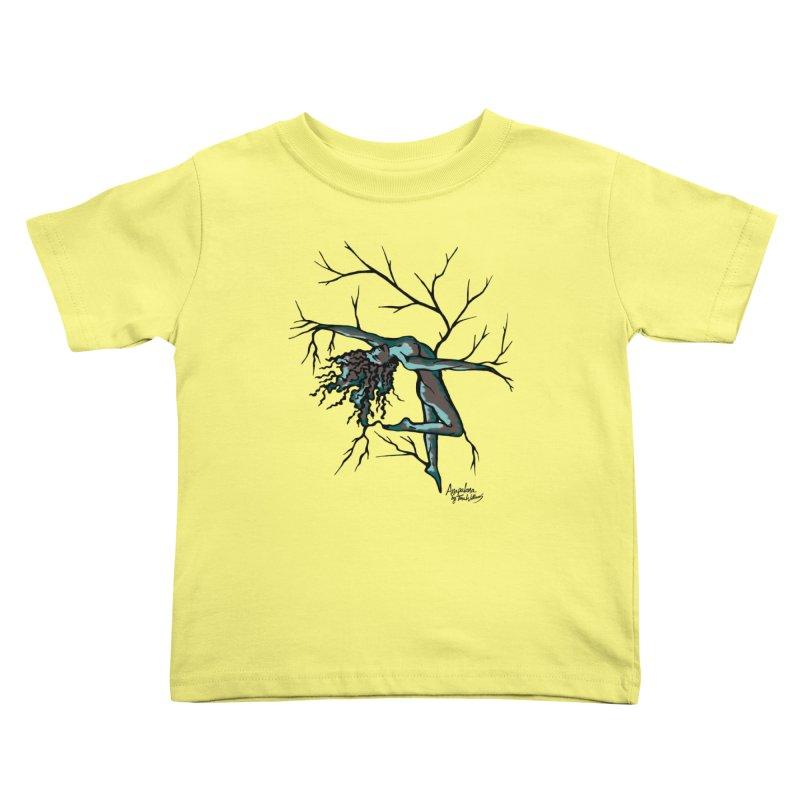 Tree Dancer 2 - Moss Tones Kids Toddler T-Shirt by Anapalana by Tona Williams Artist Shop