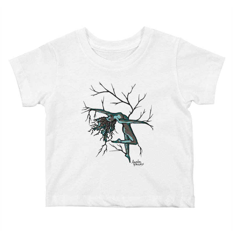 Tree Dancer 2 - Moss Tones Kids Baby T-Shirt by Anapalana by Tona Williams Artist Shop