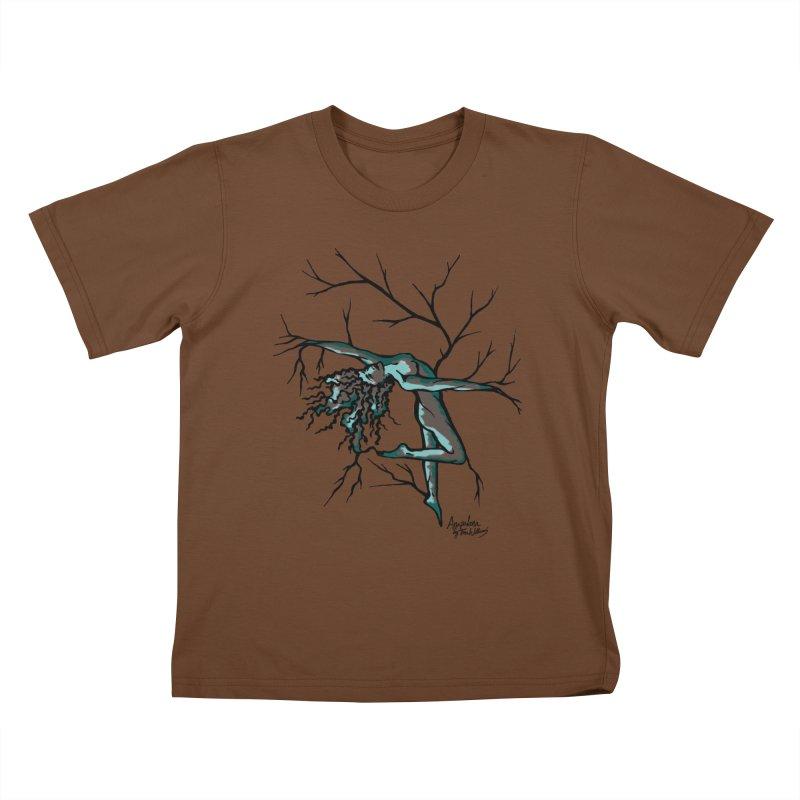 Tree Dancer 2 - Moss Tones Kids T-Shirt by Anapalana by Tona Williams Artist Shop