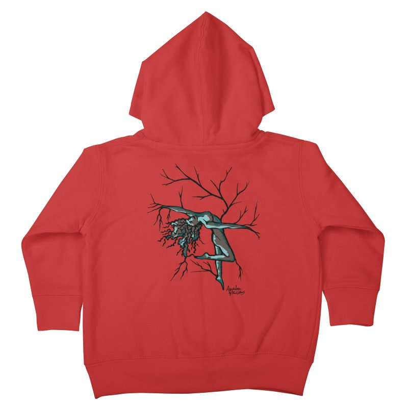 Tree Dancer 2 - Moss Tones Kids Toddler Zip-Up Hoody by Anapalana by Tona Williams Artist Shop