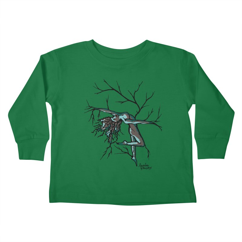 Tree Dancer 2 - Moss Tones Kids Toddler Longsleeve T-Shirt by Anapalana by Tona Williams Artist Shop