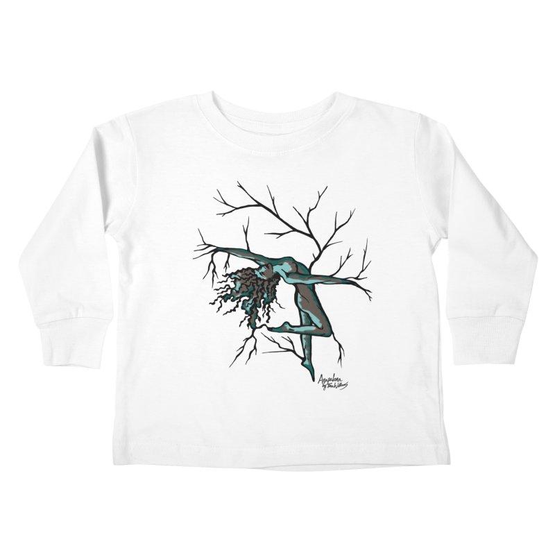 Tree Dancer 2 - Moss Tones Kids Toddler Longsleeve T-Shirt by Anapalana by Tona Williams Artist Shop