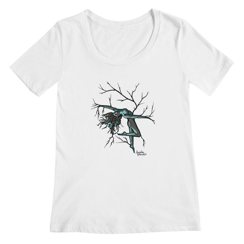 Tree Dancer 2 - Moss Tones Women's Scoopneck by Anapalana by Tona Williams Artist Shop