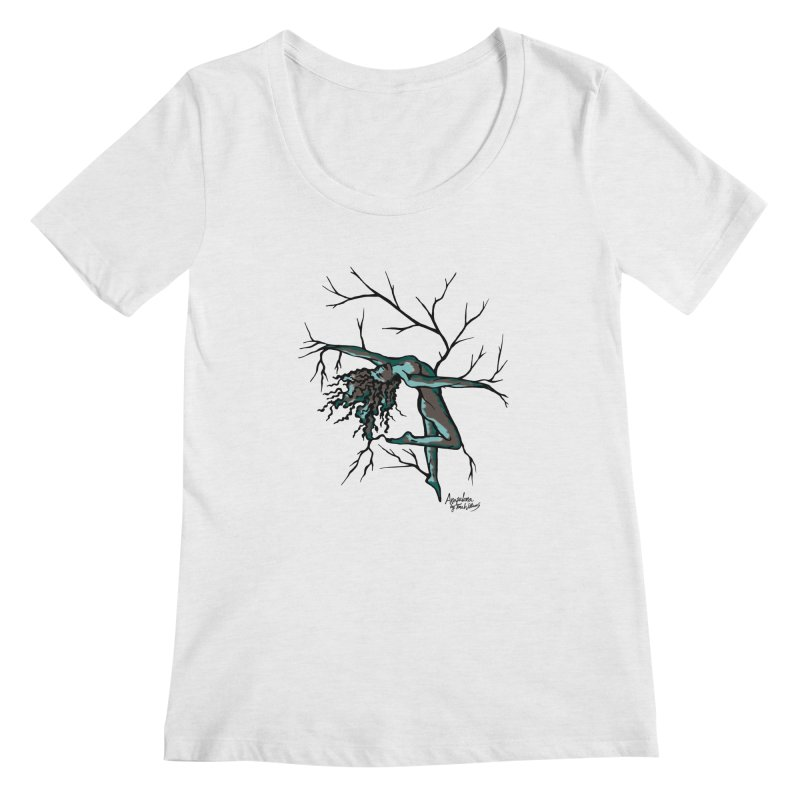 Tree Dancer 2 - Moss Tones Women's Regular Scoop Neck by Anapalana by Tona Williams Artist Shop