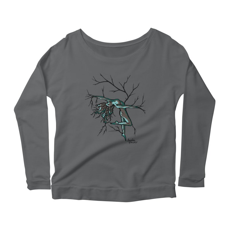 Tree Dancer 2 - Moss Tones Women's Longsleeve Scoopneck  by Anapalana by Tona Williams Artist Shop