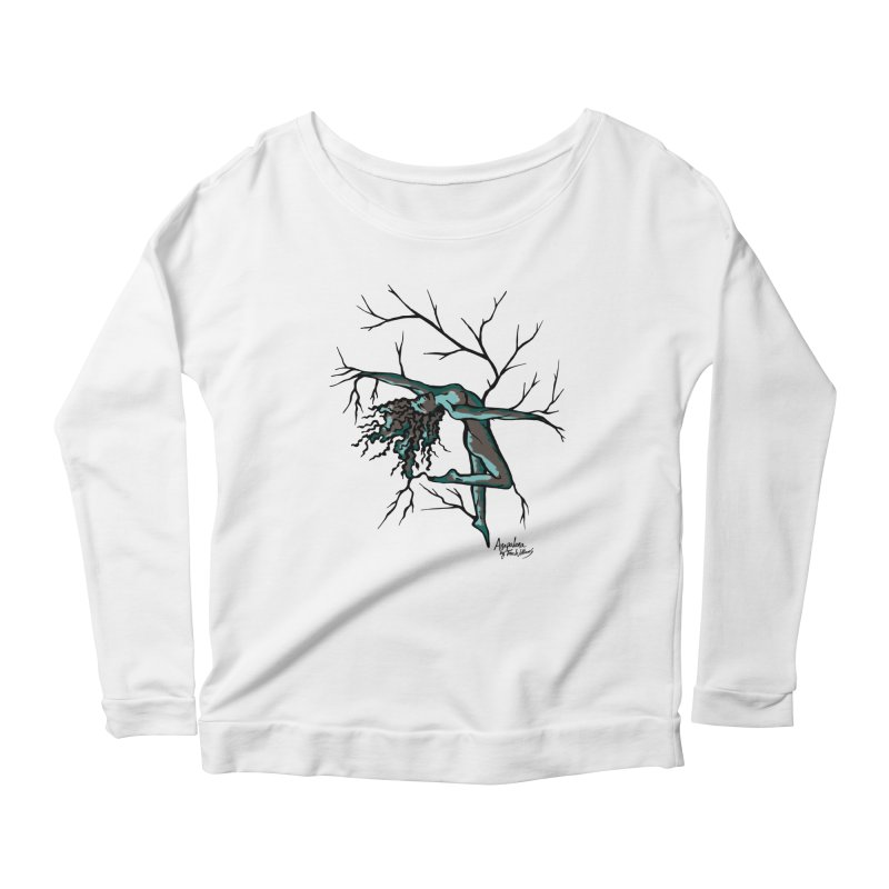 Tree Dancer 2 - Moss Tones Women's Scoop Neck Longsleeve T-Shirt by Anapalana by Tona Williams Artist Shop