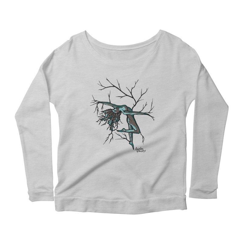 Tree Dancer 2 - Moss Tones Women's Scoop Neck Longsleeve T-Shirt by Anapalana by Tona Williams Artist Shop