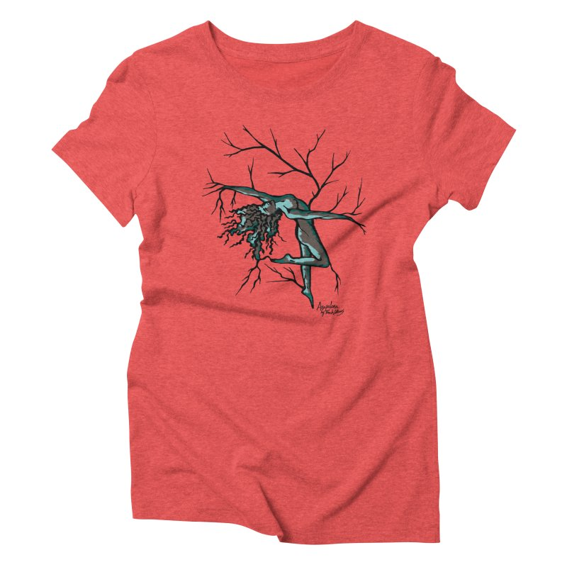 Tree Dancer 2 - Moss Tones Women's Triblend T-Shirt by Anapalana by Tona Williams Artist Shop