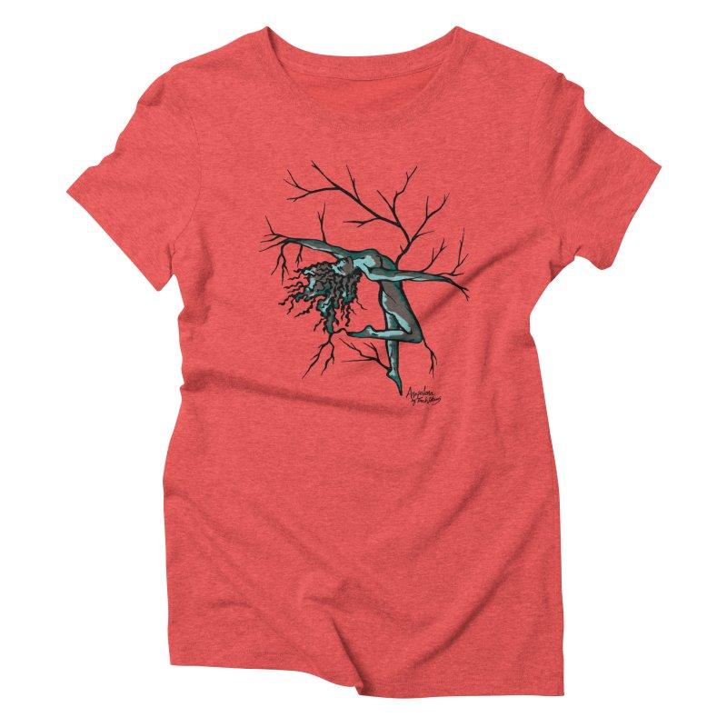 Tree Dancer 2 - Moss Tones Women's Triblend T-shirt by Anapalana by Tona Williams Artist Shop