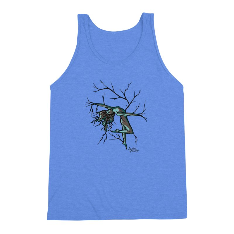 Tree Dancer 2 - Moss Tones Men's Triblend Tank by Anapalana by Tona Williams Artist Shop