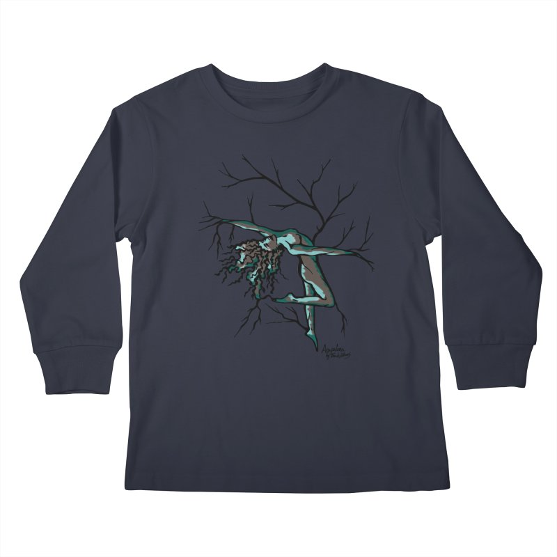 Tree Dancer 2 - Moss Tones Kids Longsleeve T-Shirt by Anapalana by Tona Williams Artist Shop