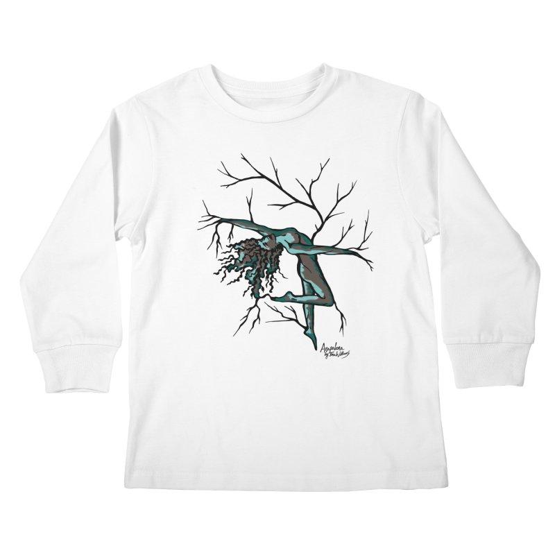 Tree Dancer 2 - Moss Tones Kids Longsleeve T-Shirt by Anapalana by Tona Williams Artist Shop