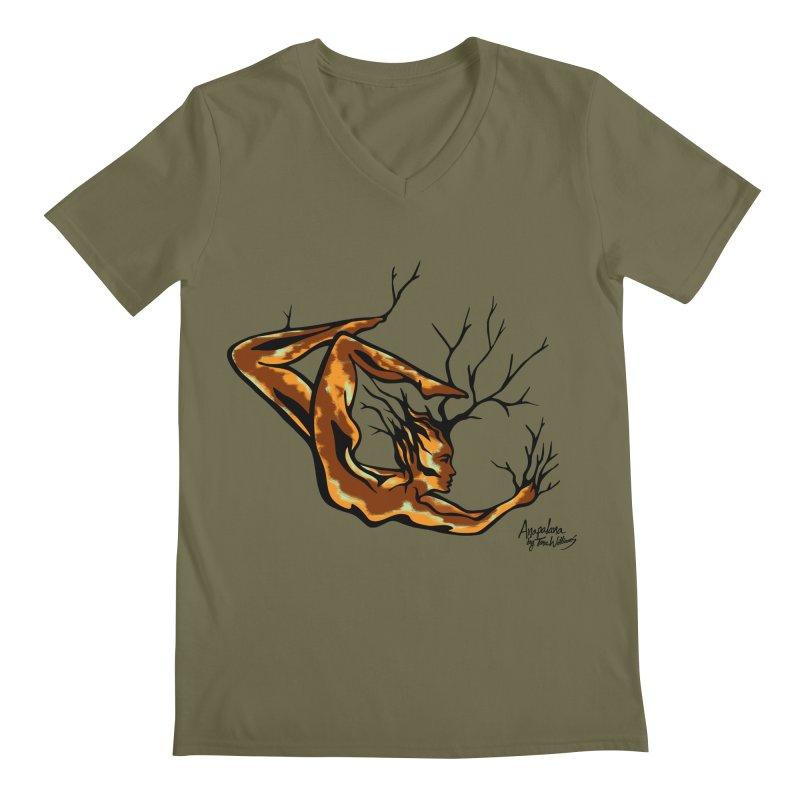 Tree Dancer 1 - Earth Tones Men's V-Neck by Anapalana by Tona Williams Artist Shop