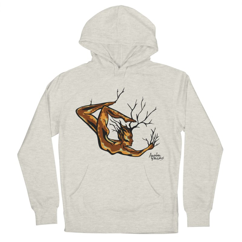 Tree Dancer 1 - Earth Tones Men's French Terry Pullover Hoody by Anapalana by Tona Williams Artist Shop